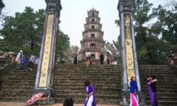 Вьетнам Хюэ, пагода Тиен Му и самосожжение монаха.